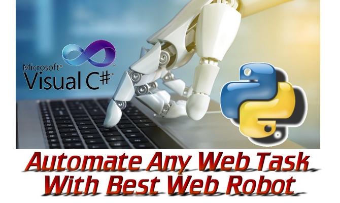 Develop Web Robot To Automate Any Web Task
