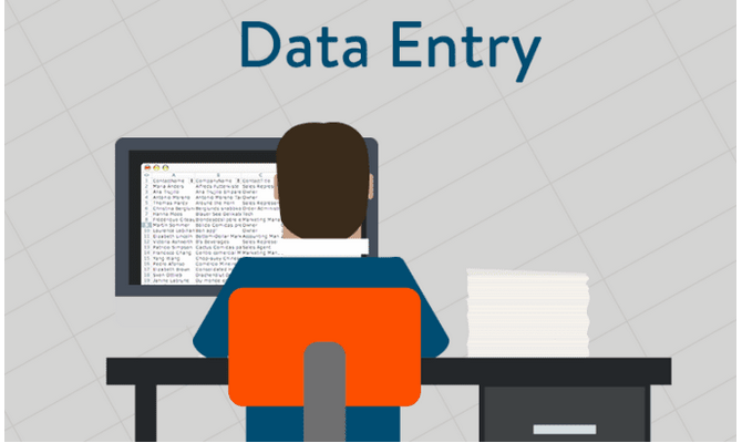 do data entry accurately and at a fast speed.