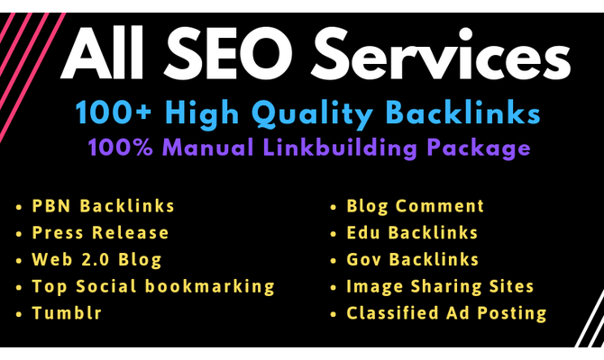 All Manual SEO Link Building Services Package