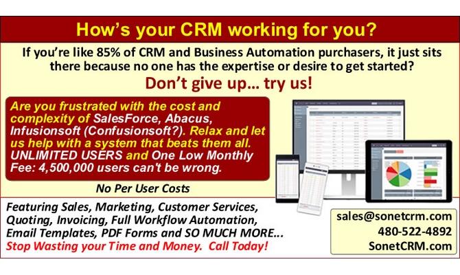 provide Customer Relationship Management, Website Integration