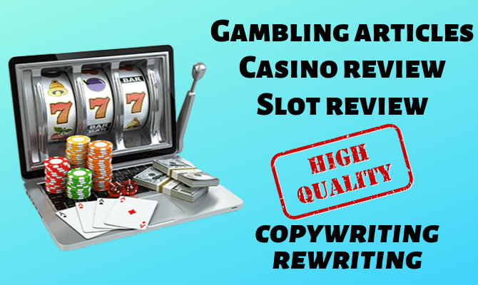 write an article about gambling (online casinos, slot reviews)