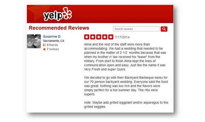 2 yelp reviews on your page for more sales to your business