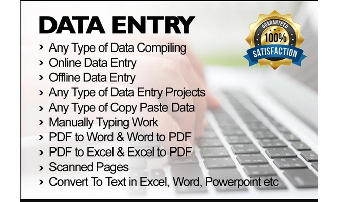do all type of data entry and wordpress develop
