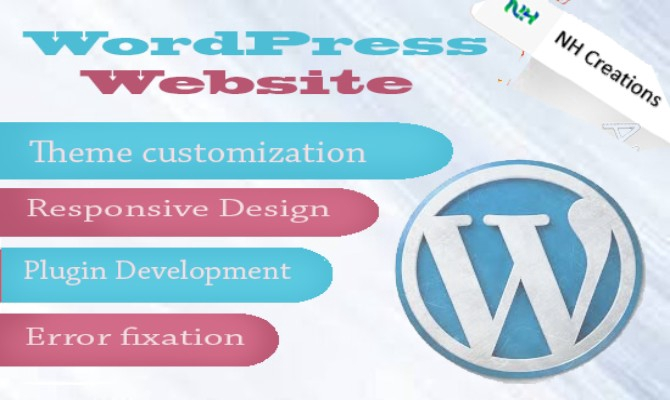 design your WordPress site and fix bugs