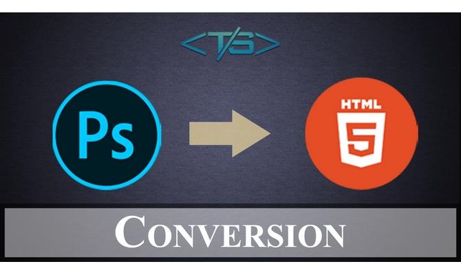 convert PSD to html 100% responsive