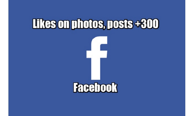 Facebook Likes on photos, posts +300